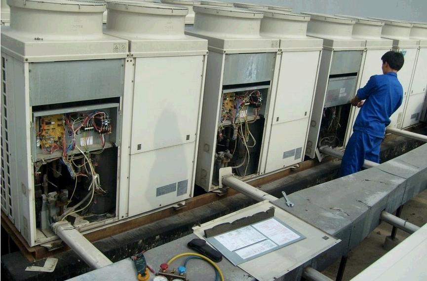 中央空调主机电路板水流开关接线
